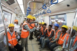 Bangalore Metro Staff Members - photo: Pro Kerala, used under Creative Commons License (By 2.0)