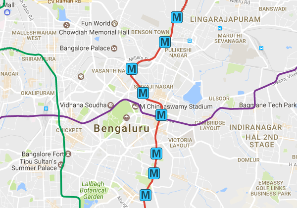 metro stations list in bangalore