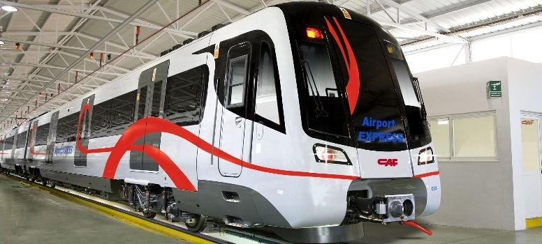 Delhi Airport Express Train - photo: CAF, used under Creative Commons License (By 2.0)