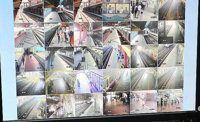 CCTV Cameras at Shastri Park metro station - photo: Economic Times, used under Creative Commons License (By 2.0)