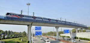 Airport Express Line over Ring Road - photo: The Hindu, used under Creative Commons License (By 2.0)