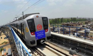 Delhi Metro Trial Run - photo: First Post, used under Creative Commons License (By 2.0)