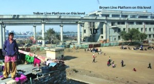 Badli Mor Station - photo: Indian Express, used under Creative Commons License (By 2.0)
