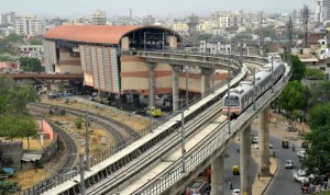 Jaipur Metro at Chandpol - photo: The Hindu, used under Creative Commons License (By 2.0)