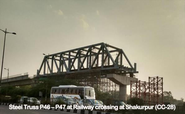 Steel Bridge over IR line at Mayapuri/Shakurpur