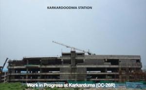 Karkardooma station (interchange with Blue line) - Photo Copyright: DMRC