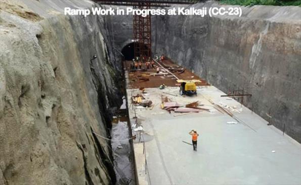 Ramp at Kalkaji - Photo Copyright DMRC