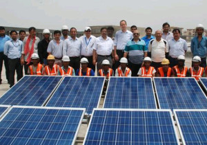 Solar Installation at Dwarka Sec-21 - photo: IndiaTV News, used under Creative Commons License (By 2.0)