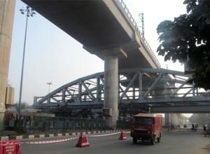 Pink Line Steel Bridge at Rajouri Garden - photo copyright: DMRC
