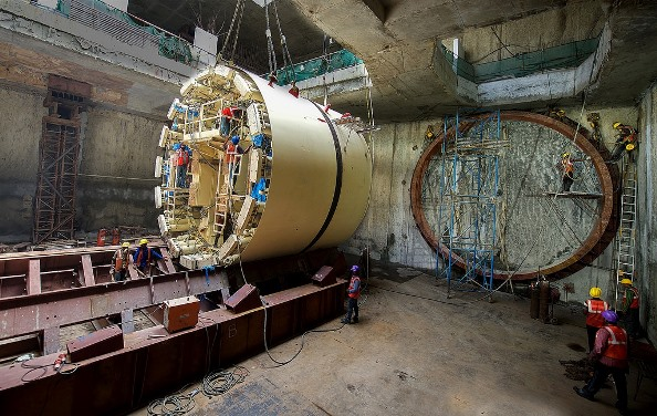 TBM Shied resting on a cradle - Photo Copyright: Jurgen Mick