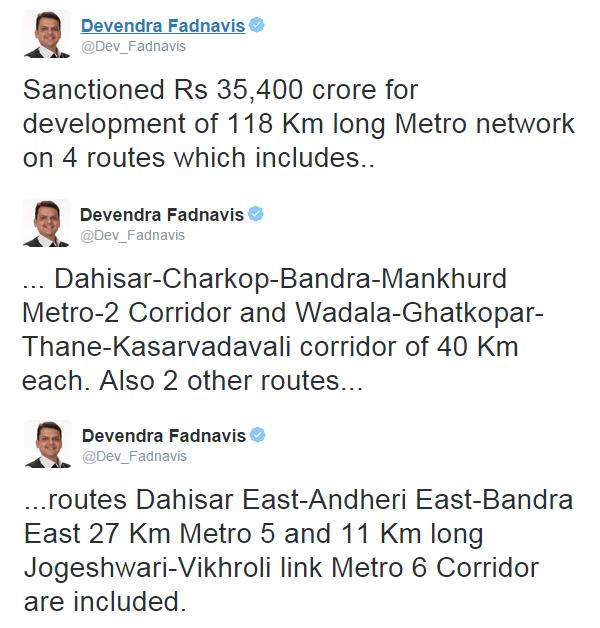 Devendra Fadnavis's Twitter Timeline