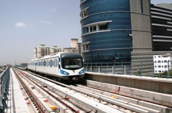 Gurgaon Metro - photo: Rediff, used under Creative Commons License (By 2.0)