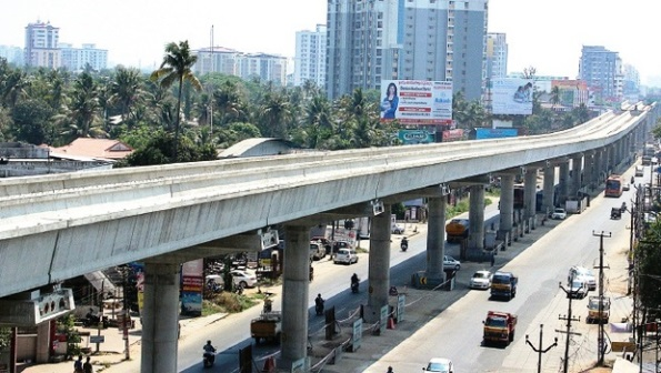 Kochi Metro - photo: New Indian Express, used under Creative Commons License (By 2.0)