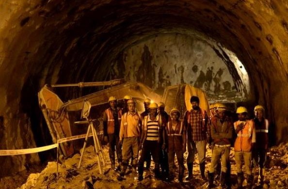Workers eagerly pose for a picture - Photo Copyright: The Hindu