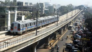 Delhi Metro - photo: Atta Chowk, used under Creative Commons License (By 2.0)