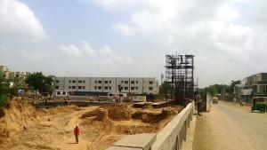 Under construction along the drain that divide Rita Nagar with Ashravi Nagar - Photo Copyright: Sherlock Holmes
