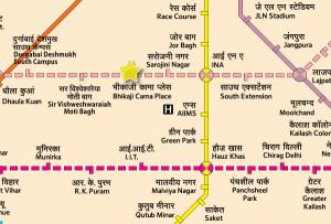 Location of breakthrough - Map Courtesy DMRC - full full map