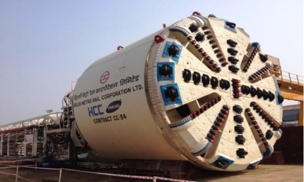 One of the Herrenknecht TBMs used on CC34 - Photo Copyright HCC