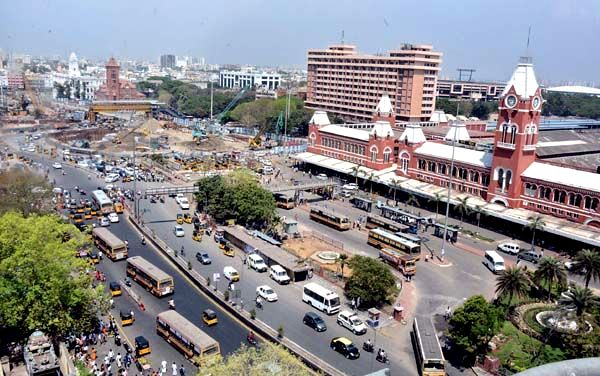 Area in front of Central station - Photo Copyright: Deccan Chronicle