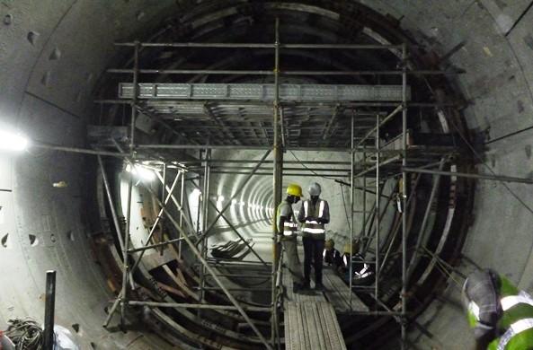 Under construction cross passage between 2 parallel tunnels - Photo Copyright: Geosmart
