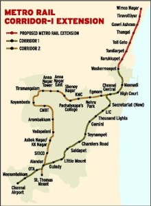 Route map showing extension - Source: The Hindu
