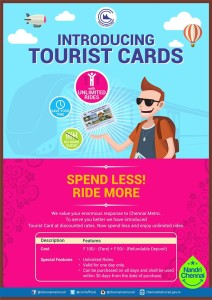 Tourist Card advt - source from Chennai Metro