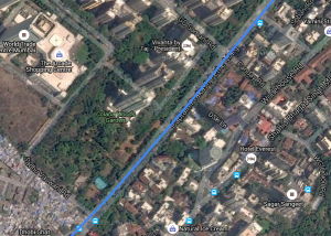 Alignment of Line 3 adjacent to Colaba Woods