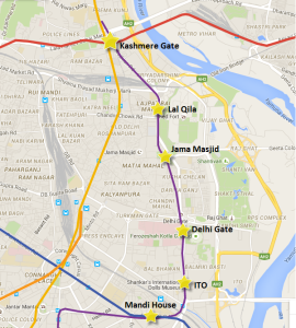 Violet line's extension from Mandi House to Kashmere Gate