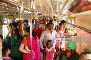 People inside the first train - Photo Copyright HT - Getty Images