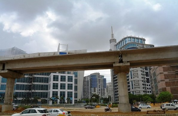 With DLF Pinnacle Towers in the background - Photo Copyright Yogesh Jeet