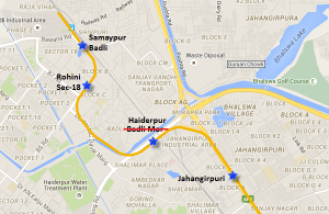 Location of Haiderpur station