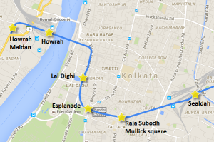 New route of underground section of Kolkata's East-West line