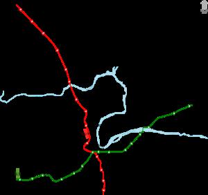 Pune Metro Route Map - Courtesy ArjunCM3