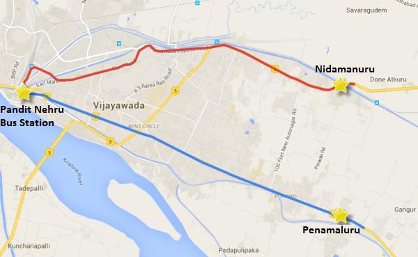 Vijayawada Metro routes