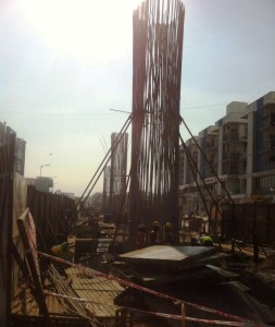 Rebar is up for new piers! - Photo Copyright: Rushabh Gandhi