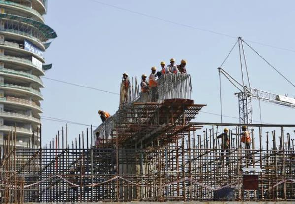 Delhi's New Magenta line under construction at Amity Chowk in Noida - Photo Copyright: Reuters