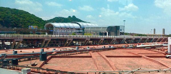 Chennai's Airport metro station - Photo Copyright: