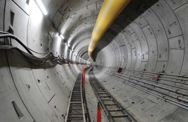 Inside a tunnel constructed by L&T for Chennai Metro - Photo Copyright: Larsen & Toubro