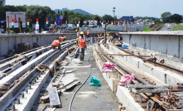 Ramp leading to cut & cover section - Photo Copyright: CMRL