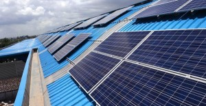 Solar panels on top of the Sector 28 station - Photo Copyright: The Hindu