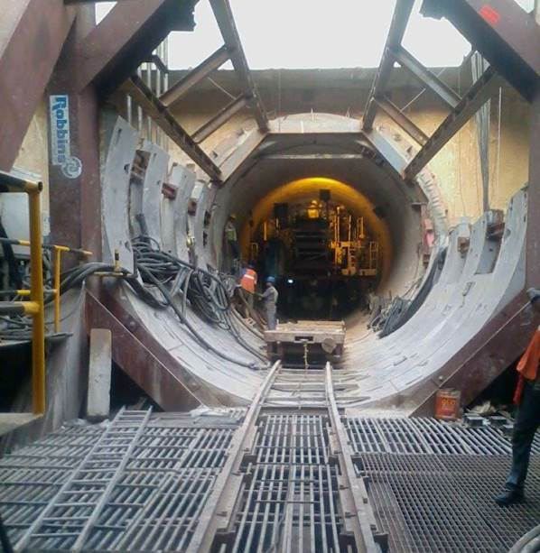 View of the TBM inside the tunnel towards Chandpol Gate: Photo Copyright: Navdeep Singh