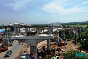 Line leading to the the Muttom Depot - Photo Copyright: Kochi Metro Rail