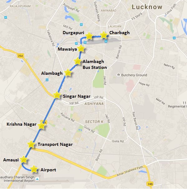 Lucknow Metro's 8.3 KM priority corridor + Transport Nagar-Airport stretch