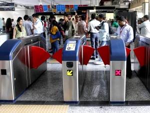 AFC Gates at a station on Line 1 - Photo Copyright: Prahaar