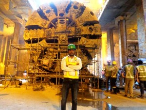The 1st TBM that made a breakthrough on Oct 5 is out of the tunnel!