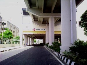 Rohini Sector 18 station -Photo Copyright SamaypurBadli