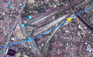 Satellite view of Sealdah