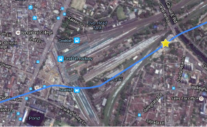 Satellite view of the Sealdah Railway Station area