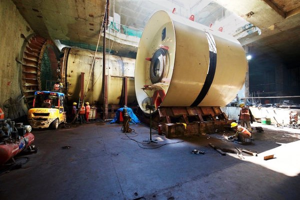 TBM shields waiting to get started - Photo Copyright: Jurgen Mick