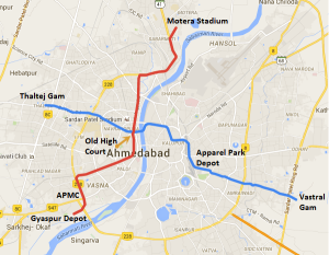 Map of Ahmedabad Metro